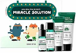 Parfumuri și produse cosmetice Set - Some By Mi AHA BHA PHA 30 Days Miracle Solution 4 Step Kit (sun/cr/25ml + ton/30ml + ser/10ml + f/cr/20g)