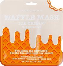 """Смягчающая вафельная маска """"Сливочное мороженное"""" - Kocostar Ice Cream Waffle Mask  — фото N1"""