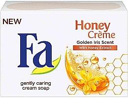 """Parfumuri și produse cosmetice Săpun """"Aroma Irisului de Aur"""" - Fa Honey Creme Golden Iris Cream Soap"""