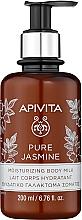 """Parfumuri și produse cosmetice Lapte hidratant de corp """"Iasomie naturală"""" - Apivita Pure Jasmine Moisturizing Body Milk"""