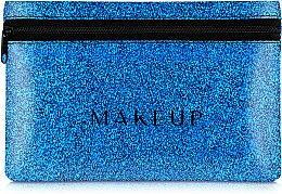 """Parfumuri și produse cosmetice Trusă cosmetică """"Glitter Pouch"""", 18x11cm, albastră - MakeUp"""