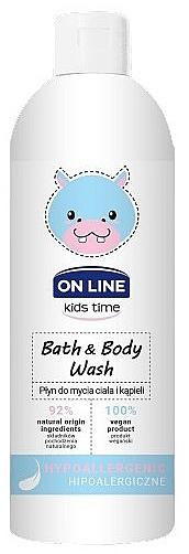 Spumă hipoalergenică de baie - On Line Kids Time Bath & Body Wash Hypoallergenic