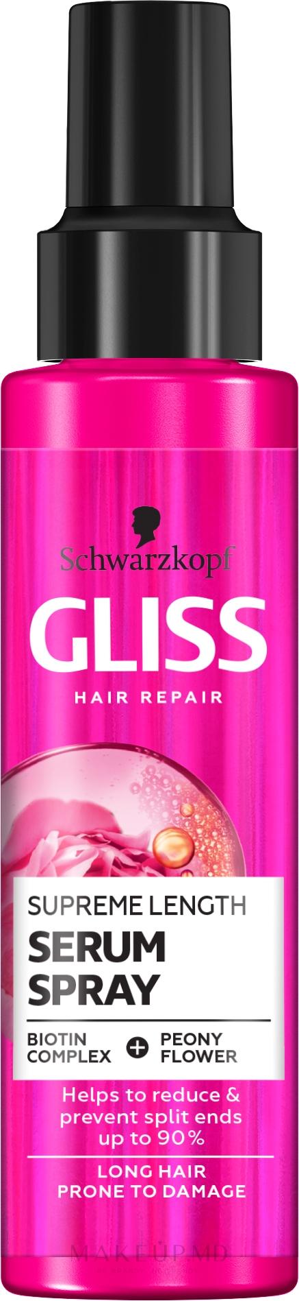 Ser pentru regenerarea intensivă a părului - Schwarzkopf Gliss Kur Supreme Length Serum — Imagine 100 ml