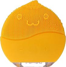 Parfumuri și produse cosmetice Perie de curățare facială BR-030, galbenă - Lewer