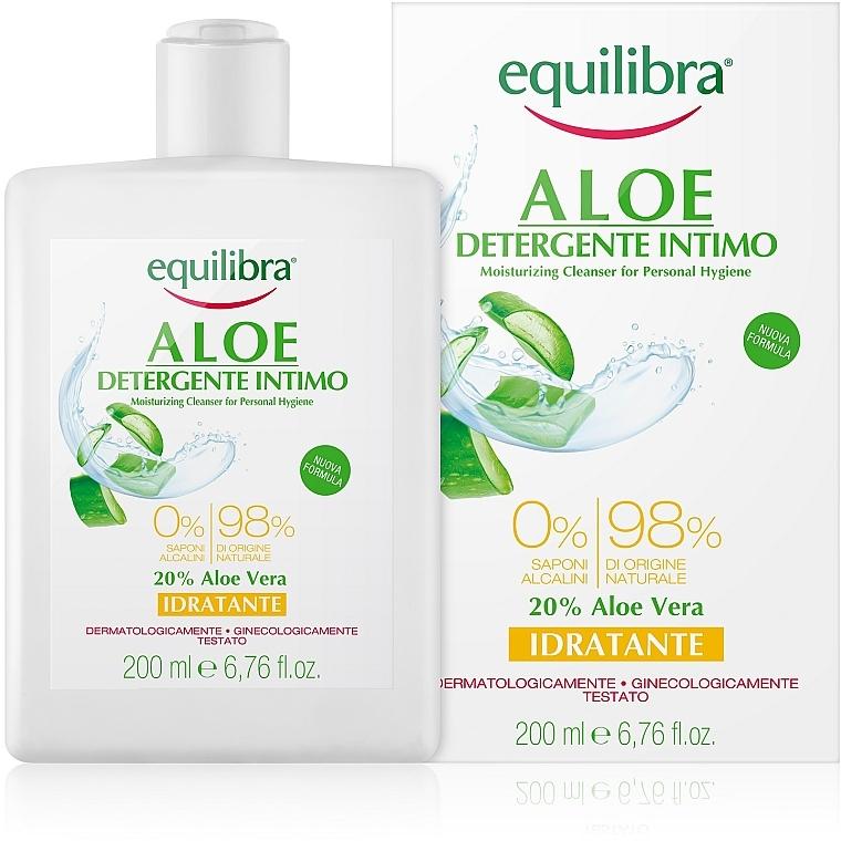 Gel hidratant pentru igiena intimă - Equilibra Aloe Moisturizing Cleanser For Personal Hygiene