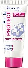 Parfumuri și produse cosmetice Primer pentru față - Rimmel Fix & Protect Makeup Primer SPF25
