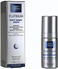 Parfumuri și produse cosmetice Ser revitalizant de noapte pentru față - MartiDerm Platinum Night Renew Serum