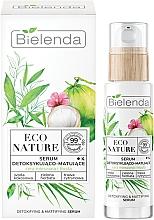 Parfumuri și produse cosmetice Ser facial - Bielenda Eco Nature Coconut Water Green Tea & Lemongrass Detox & Mattifyng Serum