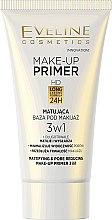 Parfumuri și produse cosmetice Bază pentru machiaj cu efect matifiant - Eveline Cosmetics Make-up Primer 3v1