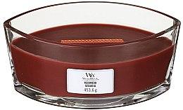 Parfumuri și produse cosmetice Lumânare aromată în suport de sticlă - Woodwick Hearthwick Flame Ellipse Candle Redwood