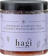 Parfumuri și produse cosmetice Scrub natural cu ulei de prune și jojoba - Hagi Scrub
