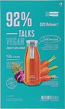 Parfumuri și produse cosmetice Mască de țesut pentru față - Missha Talks Vegan Squeeze Sheet Mask SOS Relaxer
