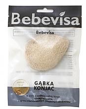 """Parfumuri și produse cosmetice Burete pentru curățarea feței """"Coajă de nuc"""" - Bebevisa Konjac Sponge"""