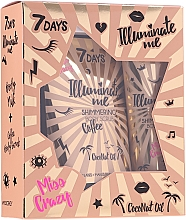 Parfumuri și produse cosmetice Set - 7 Days Illuminate Me Miss Crazy №1 (b/milk/150ml + b/scrub/200g)