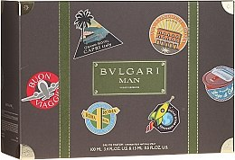 Parfumuri și produse cosmetice Bvlgari Man Wood Essence - Set (edp/7.5ml + b/milk/50ml)