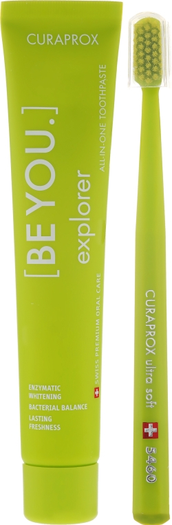 Set - Curaprox Be You Explorer (toothpaste/90ml + toothbrush) — Imagine N2