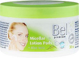 Parfumuri și produse cosmetice Discuri umede din bumbac pentru îndepărtarea machiajului - Bel Premium Lotion Pads with Aloe Vera