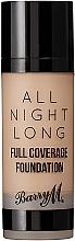 Parfumuri și produse cosmetice Fond de ten - Barry M All Night Long Liquid Foundation