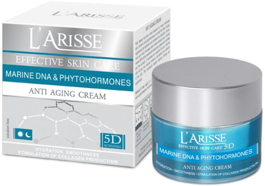 Cremă de față cu efect antirid, 60+ - Ava Laboratorium L'Arisse 5D Anti-Wrinkle Cream Marine DNA + Phytohormones — Imagine N1