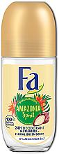 "Parfumuri și produse cosmetice Deodorant Roll-On ""Ritmurile Braziliei"" - Fa Amazonia Spirit Deo Roll On"
