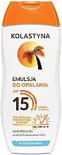 Parfumuri și produse cosmetice Emulsie pentru bronzare - Kolastyna Emulsion SPF 15