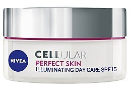 Parfumuri și produse cosmetice Cremă de zi pentru față - Nivea Cellular Perfect Skin Illuminating Day Cream SPF15