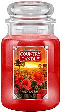 Parfumuri și produse cosmetice Lumânăre aromată în suport de sticlă  - Country Candle Wild Poppies
