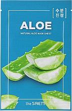 """Parfumuri și produse cosmetice Mască de față """"Aloe"""" - The Saem Natural Skin Fit Relaxing Mask Sheet Aloe"""