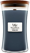 Parfumuri și produse cosmetice Lumânare aromată cu suport din sticlă - WoodWick Hourglass Candle Evening Onyx