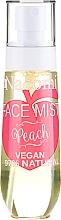 """Parfumuri și produse cosmetice Spray de față """"Piersic"""" - Nacomi Face Mist Peach"""
