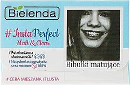Parfumuri și produse cosmetice Șervetele matifiante - Bielenda #Insta Perfect Matt&Clear