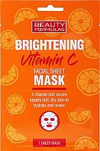 Parfumuri și produse cosmetice Mască cu efect radiant pentru față - Beauty Formulas Brightening Vitamin C Facial Sheet Mask