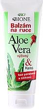 Parfumuri și produse cosmetice Balsamul hidratant pentru mâini - Bione Cosmetics Aloe Vera Nourishing Hand Ointment With Collagen