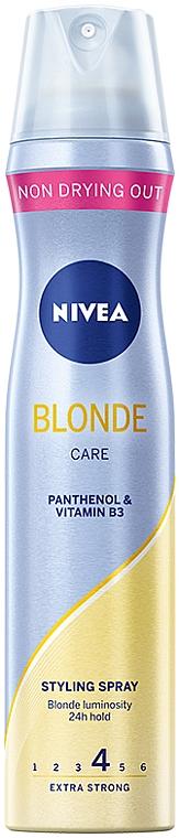 """Lac de păr, cu fixare extra puternică """"Blond de lux"""" - Nivea Styling Spray"""