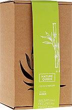 "Parfumuri și produse cosmetice Set ""Bambus"" - Nature Queen(peel/250g+b/butter/150ml+b/lotion/200ml)"