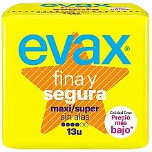 """Parfumuri și produse cosmetice Absorbante """"Maxi Super"""", fără aripi, 13buc - Evax Fina & Segura"""