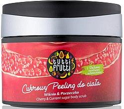 """Parfumuri și produse cosmetice Peeling de zahăr pentru corp """"Vișină și coacăză"""" - Farmona Tutti Frutti Sugar Body Scrub"""