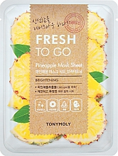 Parfumuri și produse cosmetice Mască de țesut cu extract de ananas - Tony Moly Fresh To Go Mask Sheet Pineapple