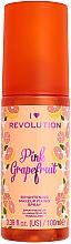 Духи, Парфюмерия, косметика Спрей фиксирующий макияж - I Heart Revolution Fixing Spray Grapefruit
