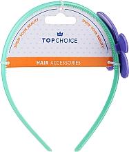 Parfumuri și produse cosmetice Cerc de păr 27864, mentă cu floare mov - Top Choice
