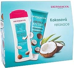 Parfumuri și produse cosmetice Set - Dermacol Aroma Ritual Brazilian Coconut (sh/gel/250ml + b/lot/250ml)