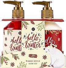 Parfumuri și produse cosmetice Set - Accentra Hello Winter Baked Apple Bath Set (sh/gel/250ml + lot/250ml)