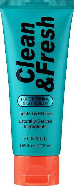 Cremă-mască de noapte pentru strângerea porilor - Eunyul Clean&Fresh Pore Refining Night Cream