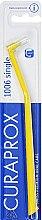 """Parfumuri și produse cosmetice Periuță de dinți unidentară """"Single CS 1006"""", galbenă - Curaprox"""