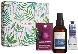 Parfumuri și produse cosmetice Set - L'Occitane (f/mask/6ml + mist/100ml + h/cr/30ml)