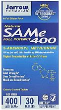 Parfumuri și produse cosmetice Adenosilmetionină, cu acoperire enterică - Jarrow Formulas SAM-e 400 (S-Adenosyl-L-Methionine) 400 mg