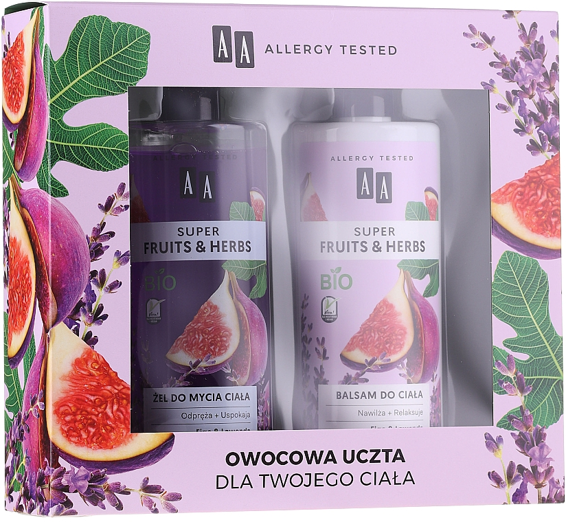 Набор - AA Super Fruits&Herbs Set (sh/gel/500ml + b/lot/500ml) — фото N1