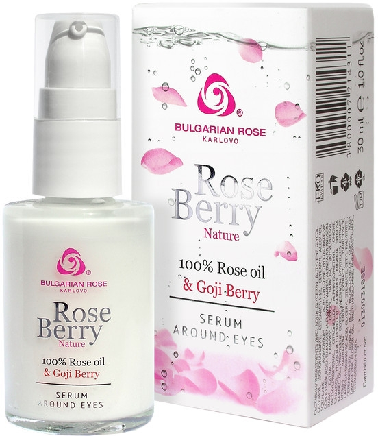 Ser pentru zona ochilor - Bulgarian Rose Rose Berry Nature Serum Around Eyes — Imagine N1
