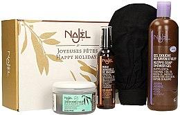 Parfumuri și produse cosmetice Set - Najel (soap/200ml + b/oil/125ml + sh/gel/500ml + acc)