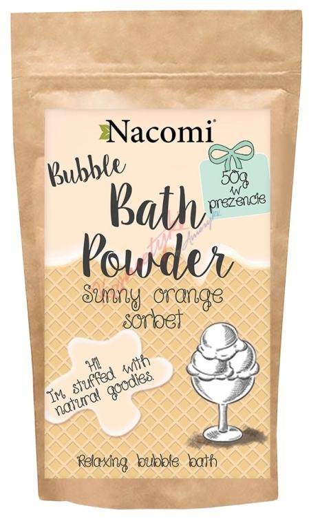 "Pudră pentru baie ""Sorbet portocaliu"" - Nacomi Sunny Orange Sorbet Bath Powder — Imagine N1"